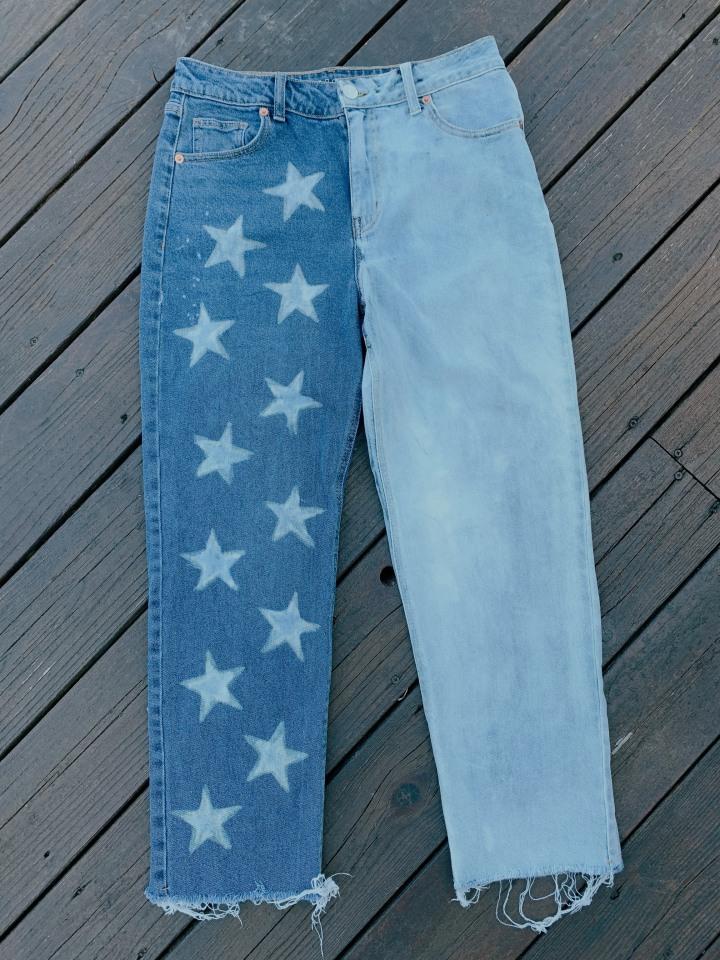 DIY Star Jeans